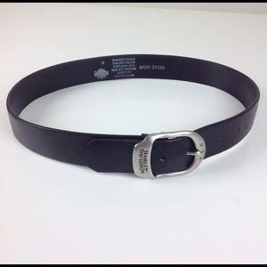 Harley Davidson Leather Belt Size 32 USA